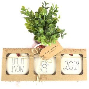 NEW Rae Dunn - 2019 Ornament set - LET IT SNOW
